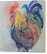 Mr Rooster Wood Print