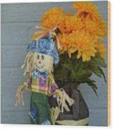 Mr Scarecrow Wood Print