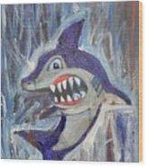 Mr. Shark Wood Print