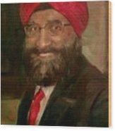 Mr. Singh Wood Print