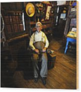 Mr. Smallwood And His Store Wood Print