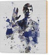 Mr Spock Wood Print