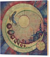 Mr Twardowski On The Moon Wood Print