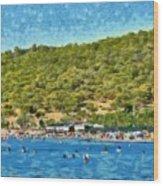 Megalo Kavouri Beach Wood Print