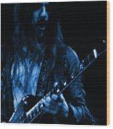 Mrmt #70 Enhanced In Blue Wood Print