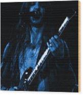 Mrmt #71 Enhanced In Blue Wood Print