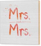 Mrs And Mrs Wood Print