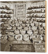 Mrs. Butts Mortar And Pestle Collection Found In San Benito Co. Wood Print