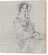 Mrs. Charles Badham Wood Print