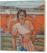 Mrs. Curry And Son Wood Print