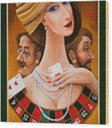 Mrs Fortune Wood Print by Igor Postash