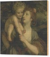 Mrs Hartley As A Nymph With A Young Bacchus Wood Print