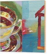 Mrs Patterson S Tea Cup 4559 Wood Print