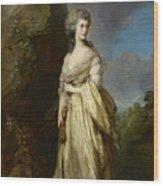 Mrs Peter William Baker Wood Print
