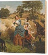 Mrs Schuyler Burning Her Wheat Fields Wood Print