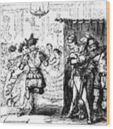 Mrs Sextus Consoles Herself With A Little Party Wood Print