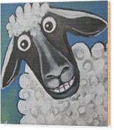 Mrs Sheep Wood Print