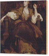 Mrs Siddons As The Tragic Muse Wood Print