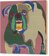 Ms Diva The English Bulldog Wood Print