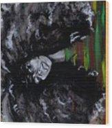 Ms Erykah Badu To You Fool Wood Print