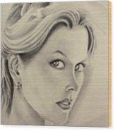 Ms. Kidman Wood Print