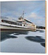 Ms Mount Washington At Winter Dock Wood Print
