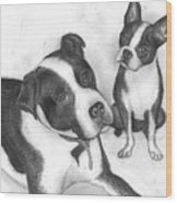 Ms Proutys Dogs Wood Print