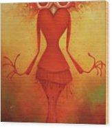 Ms. Shishi Wood Print