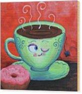 Ms Tea Wood Print