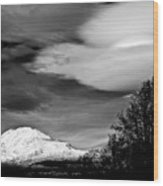 Mt Adams With Lenticular Cloud Wood Print