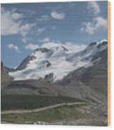 Mt Athabasca Wood Print by Kenneth Hadlock