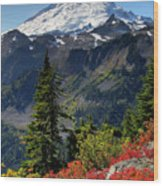 Mt. Baker Autumn Wood Print