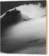 Mt. Baker Storm Wood Print