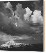 Mt. Baker Thunderstorm. Wood Print