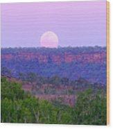 Mt Barnett Moon Wood Print