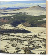 Mt. Capulin New Mexico Wood Print