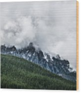 Mt Chephern Engulfed In Clouds Wood Print by Adnan Bhatti