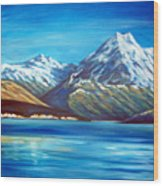 Mt Cook New Zealand Wood Print