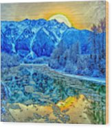 Mt Currie Fantasy Wood Print