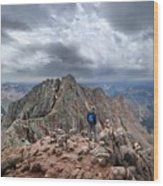 Mt Eolus And The Catwalk From North Eolus - Chicago Basin - Weminuche Wilderness - Colorado Wood Print