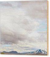 Mt Hekla Wood Print