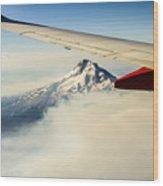Mt Hood Aerial View Wood Print