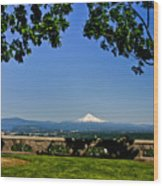 Mt Hood From Rocky Butte Wood Print