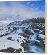 Mt. Hood Morning Wood Print