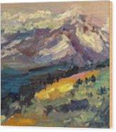 Mt Hood View From Chinook Landing Wood Print