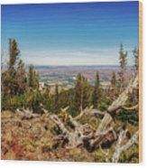 Mt. Howard, Wallowa Lake Wood Print