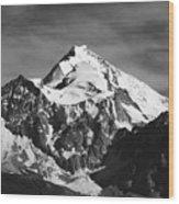 Mt Huayna Potosi In Monochrome Wood Print