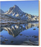 Mt Huxley Over Saphire Lake Morning - John Muir Trail Wood Print