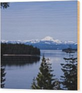 Mt Lassen Wood Print