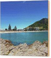 Mt Maunganui Beach 9 - Tauranga New Zealand Wood Print